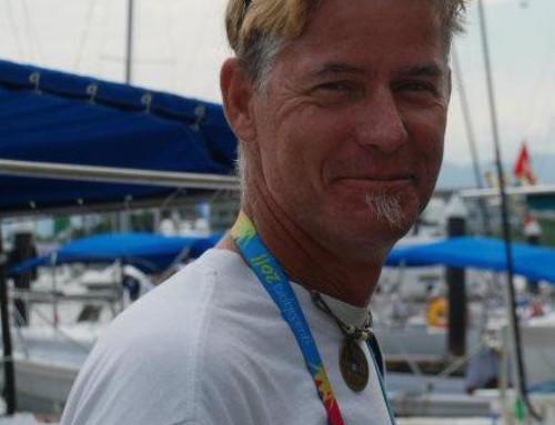 Sail-maker Mike; loving La Cruz.